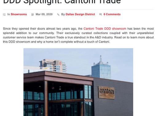 Dallas Design District Spotlight on Cantoni Trade