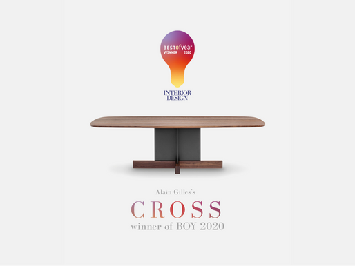 Cross Table Wins American Interior Design Magazine's Best of Year 2020