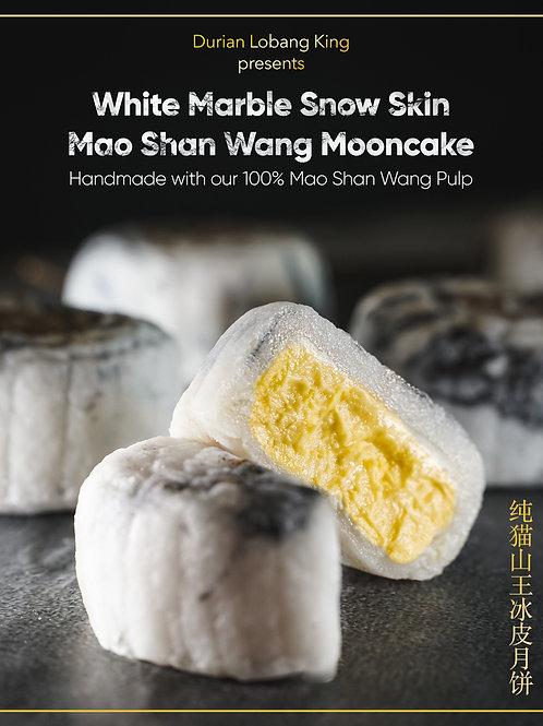 White Marble Mao Shan Wang Snow Skin Mini Mooncake