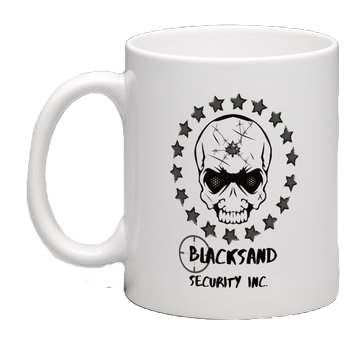 """Skull"" White Blacksand Coffee Mug"