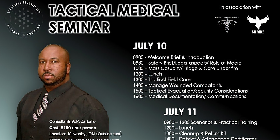 TACTICAL MEDICAL TRAINING SEMINAR