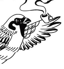 Tiny bird coffee service