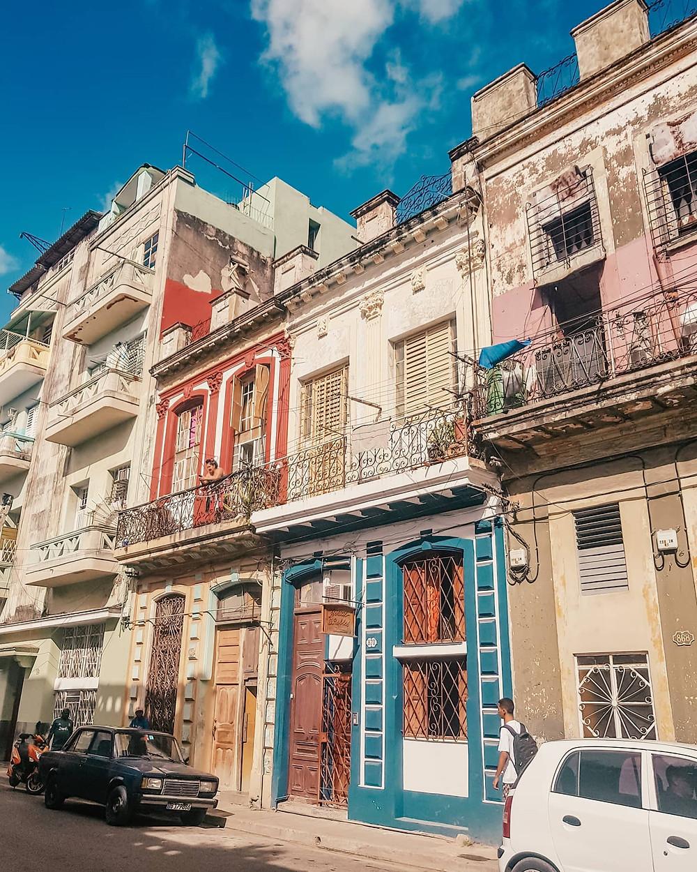 Prédios em Havana Vieja