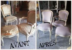 Cabriolet, chaise et tabouret LXV