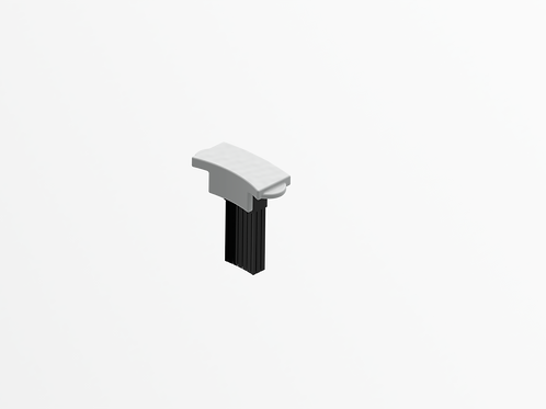 Magnetically Hinged Rear Clip