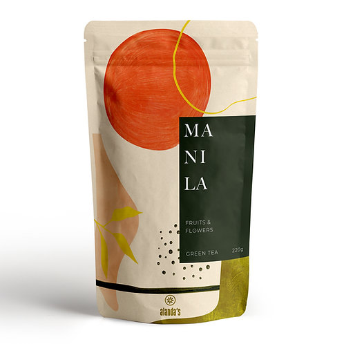 MANILA   Grüner Tee, Ananas, Papaya, Apfel, Orange, Ringelblume & Rose