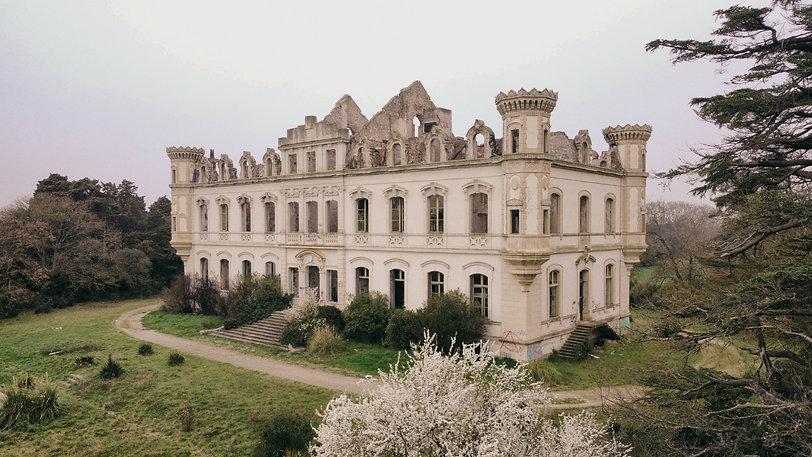 chateau abandon urbex drone vue du ciel art ruine tekprod emmanuel tecles