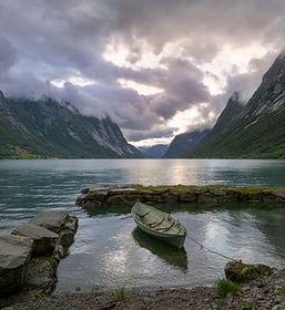 Paysage magnifique de Fjord Norvégien