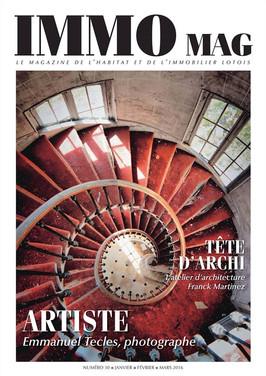 Couverture Magazine d'architecture IMMOMAG