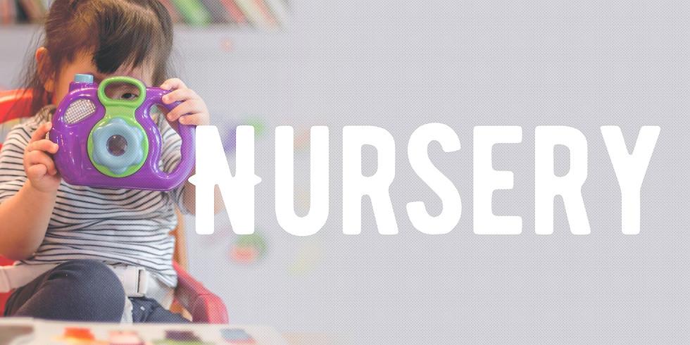 Sunday August 23rd Nursery Registration