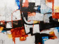 Acrilico, acquerello e pastello su tela cm 100x150