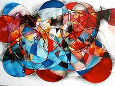 Acrilico e acquerello su tela cm 100x150