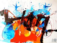 Acrilico e acquerello su tela cm 80x100