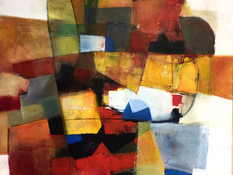 Acrilico, acquerello e pastello su tela cm 100x80