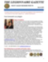 arch 2020 Legionnaire Gazette Newsletter
