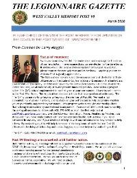 March 2020 Newsletter Online