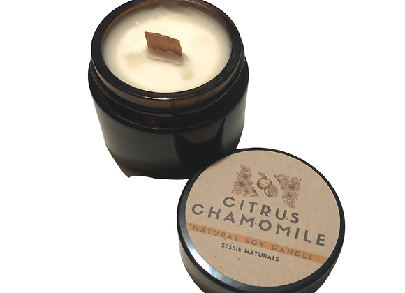 Citrus Chamomile Natural Soy Wood Wick Candle