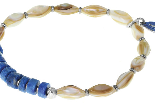 Bracelet extensible olives nacre Tamila