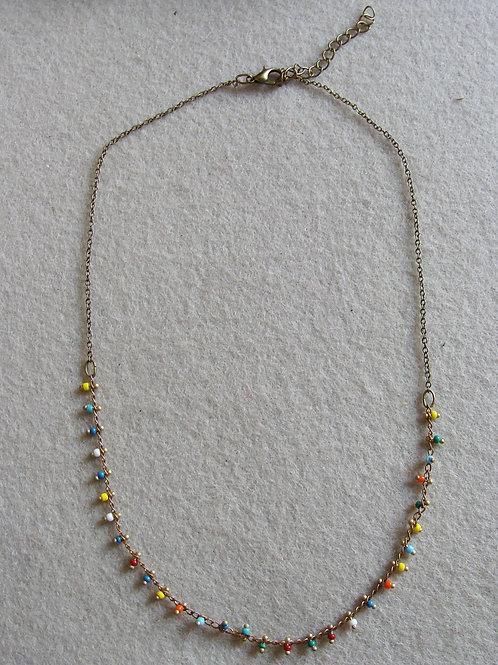 Collier chaîne perlée