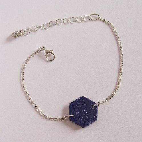 Bracelet réversible bi-color en cuir