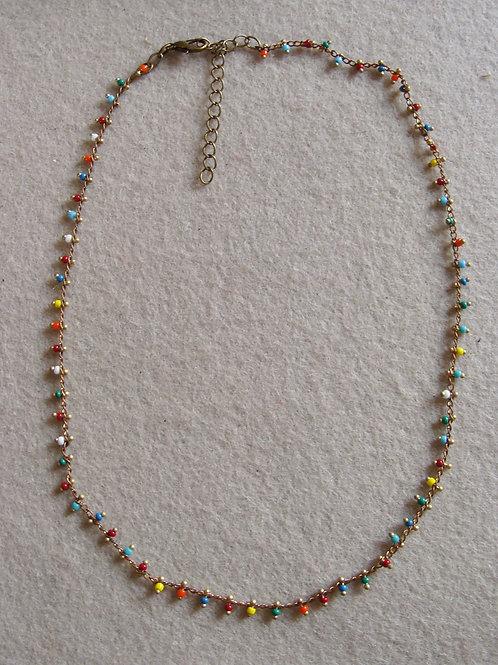Collier chaîne perlée complète