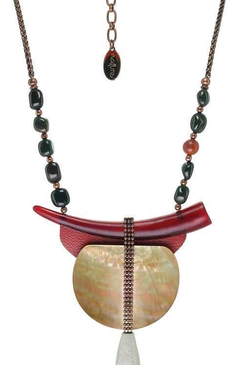 Collier corne Red horn