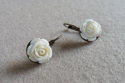 Dormeuses rétros petites roses
