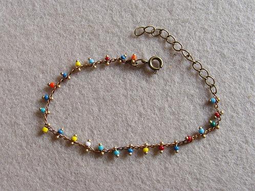 Bracelet chaîne perlée complète