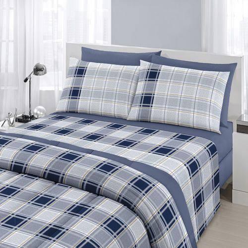 6d83a65e67 Edredom Dupla Face Royal Azul 100% Algodão - Santista