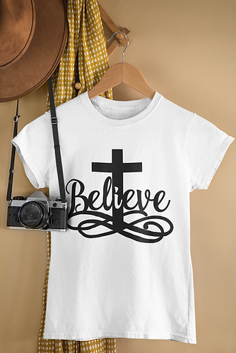 Believe - White T-Shirt pic.png