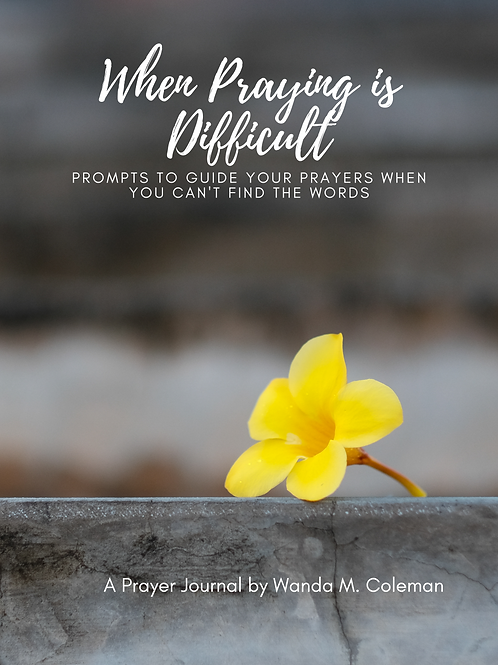 When Praying is Difficult:  Prompts to Guide Your Prayers...