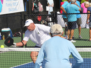 Men's Doubles Pickleball Players Enjoy Y Tourney