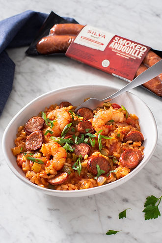 Risotto Jambalaya with Andouille and Shr