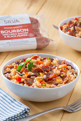 Dirty Rice & Beans With Bourbon Bacon Sm