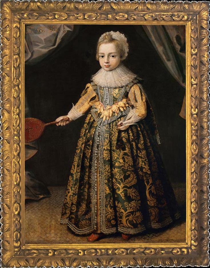 Portret van een 3-jarige jongen (1605)