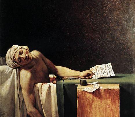 Dood van Marat 1793