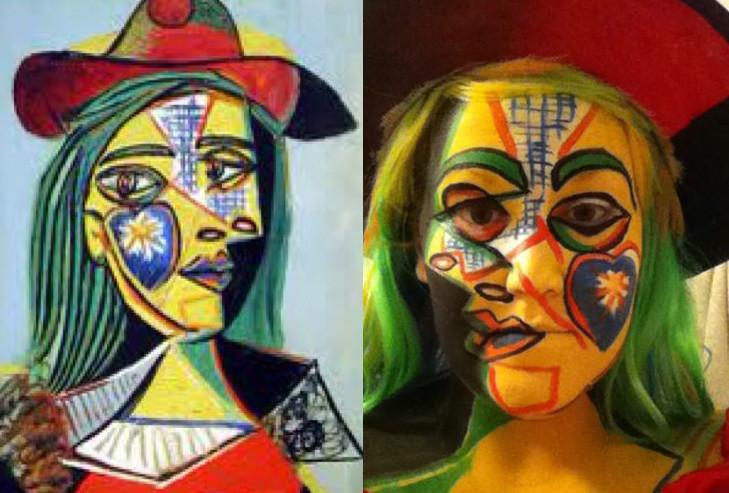 Verkleed als een Picasso schilderij
