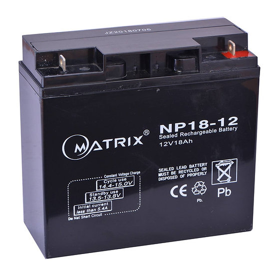 Matrix Sealed Lead Acid Maintenance Free Battery