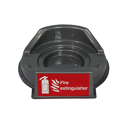 Grey Single Fire Extinguisher Plinth
