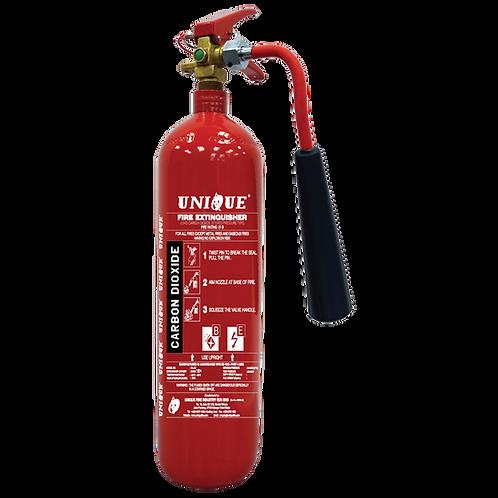UNIQUE 2kg Carbon Dioxide Portable Fire Extinguisher
