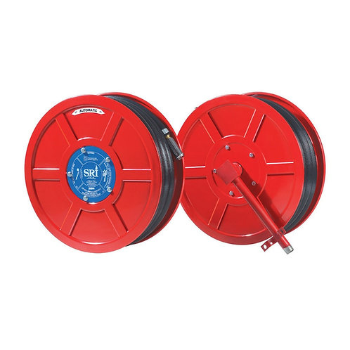 SRI Fire Hose Reel c/w Brass Nozzle