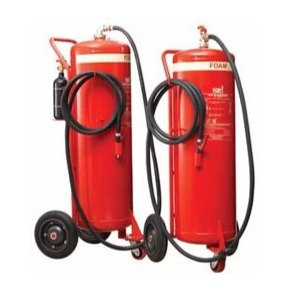 SRI 135L Foam Fire Extinguisher On Trolley EN1866