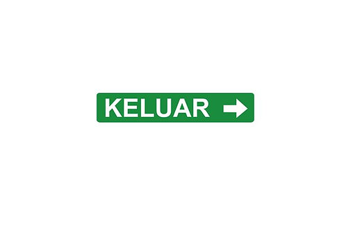 Box Type Double Side White Legend LED Keluar Sign – Arrow