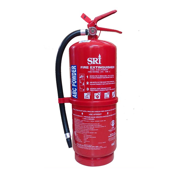SRI 6kg ABC Dry Powder Portable Fire Extinguisher