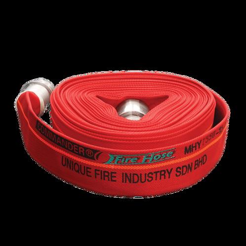 COMMANDER 16 Bar 65mm x 30m Canvas Fire Hose c/w Coupling (Red)