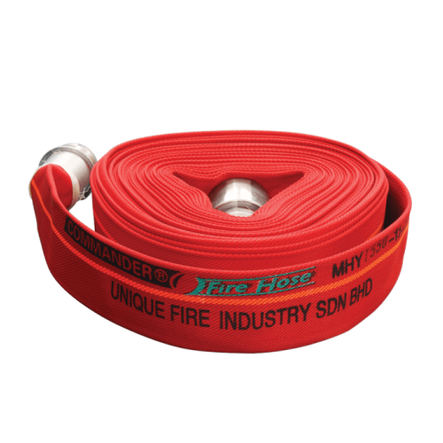 COMMANDER 16 Bar 65mm x 30m Canvas Fire Hose c/w Coupling (Red)