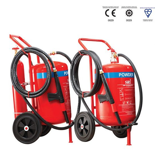 Stored Pressure SRI 50kg EN1866 Trolley Dry Powder Fire Extinguisher