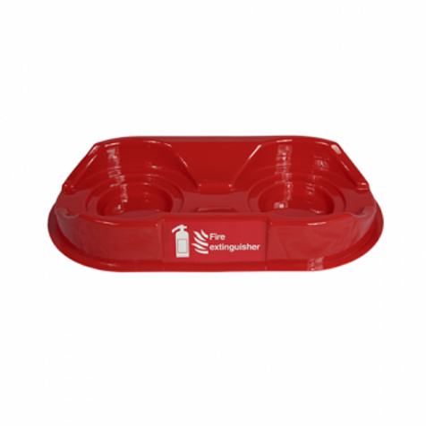 Red Double Fire Extinguisher Plinth