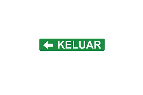 Box Type Single Side White Legend LED Keluar Sign – Arrow left