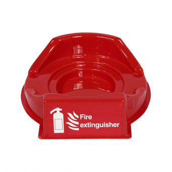 Red Single Fire Extinguisher Plinth